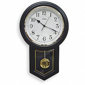 PENDULUM CLOCK,ANALOG,BLK