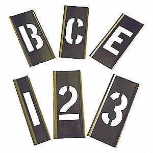 INTERLOCKING STENCIL,NUMB+LETTERS,B