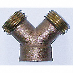 HOSE Y CONNECTOR,2 WAY,GHT