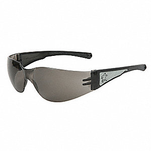 Luminator Scratch-Resistant Safety Glasses, Gray Lens Color