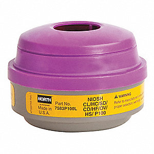 Respirator Cartridge,Yellow/Magenta,Pr