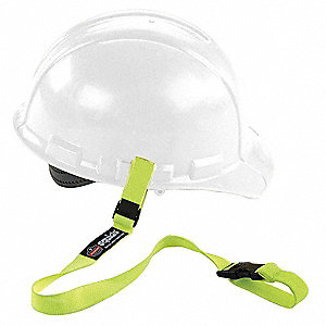 Hard Hat Lanyard w/ Buckle,Elastic,Lime