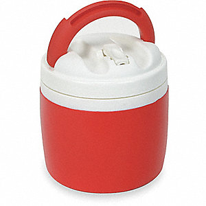 BEVERAGE COOLER,1 GAL.,RED