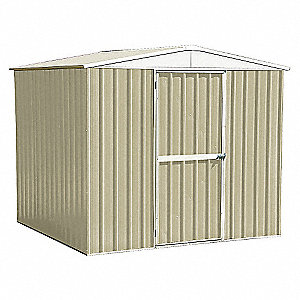STORAGE SHED,A-ROOF,6 FT X 8 FT,BEI