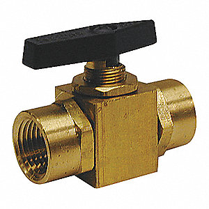 BALL VALVE,TWO PIECE,1/8 IN,BRASS B