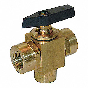 BALL VALVE,TWO PIECE,1/2 IN,BRASS B