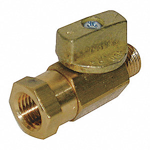 BALL VALVE,TWO PIECE,1/4 IN,BRASS B