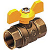 BALL VALVE,2 PC,1 IN FNPT,FORGED BR