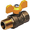 BALL VALVE,2 PC,1 IN M X F,FORGED B