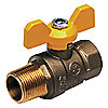 BALL VALVE,1/2 IN M X F,FORGED BRAS