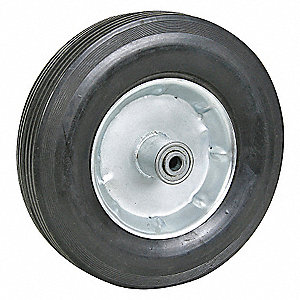 SOLID RUBBER WHL,12 IN,540 LB