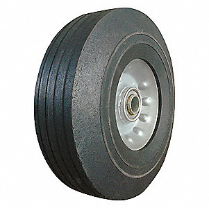 SOLID RUBBER WHL,8 IN,400 LB