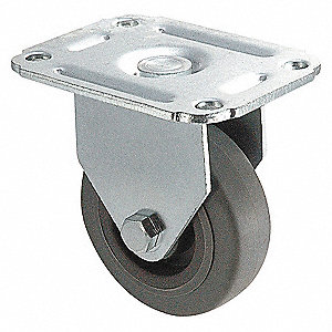 RIGID PLATE CASTER,75 LB,2 IN DIA