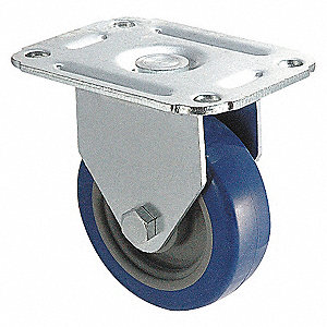 RIGID PLATE CASTER,125 LB,3 IN DIA