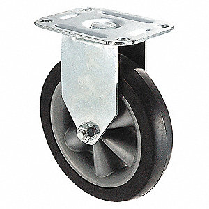 RIGID PLATE CASTER,140 LB,4 IN DIA