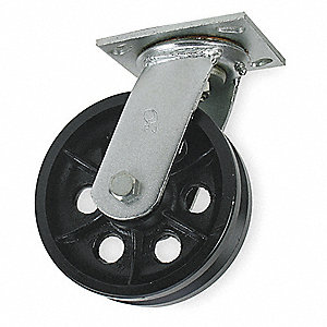 V-GROOVE SWIVEL CASTER,900 LB.,2IN