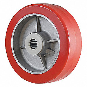 CASTER WHEEL,6 D X 2 IN. W,1250 LB.