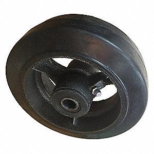CASTER WHEEL,6 D X 2 IN. W,500 LB.
