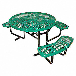 PICNIC TABLE, 81IN X 63-1/2IN, BLUE