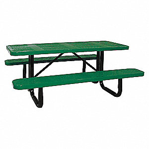 PICNIC TABLE, 72IN X 62IN, GREEN