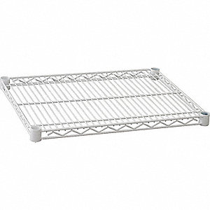 WIRE SHELF,60 X 24 IN.,WHITE