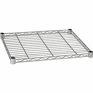 WIRE SHELF,48 X 24 IN.,CHROME