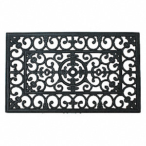 MAT, RUBBER GRILL,BLK,18X30IN