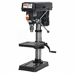 "1/3 Motor HP Bench Drill Press, Belt Drive Type, 10"" Swing, 120 Voltage"