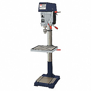"1-1/2 Motor HP Floor Drill Press, Belt Drive Type, 20"" Swing, 240/480 Voltage"