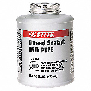 16 oz. Brush Top Can Pipe Thread Sealant, White
