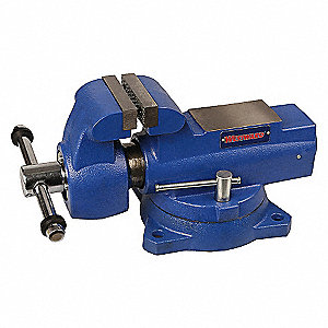 BENCH VISE,DEEP THROAT,SWIVEL,6 IN
