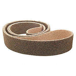 SANDING BELT,2 IN WX42 IN L,AO,120G