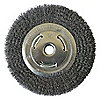 WIRE WHEEL,8 IN D,STEEL,0.0140 WIRE
