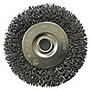 WIRE WHEEL,6 IN D,STEEL,0.0140 WIRE