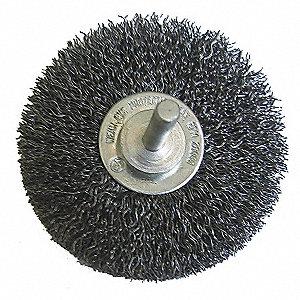 WIRE WHEEL,3 IN D,STEEL,0.0118 WIRE