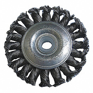 WHEEL BRUSH,3 IN D,STEEL,0.0140 WIR