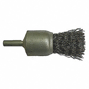 END BRUSH,1/2 IN D,SS,0.0118 WIRE