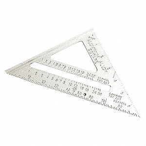 RAFTER ANGLE SQUARE,7 IN,ALUMINUM