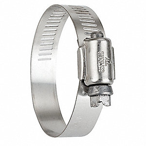 Hose Clamp,1-1/2 to 2-1/2 In,SAE 32,PK10