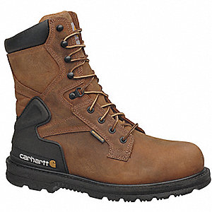 "8"" Work Boot,  15,  W,  Men's,  Brown,  Steel Toe Type,  1 PR"