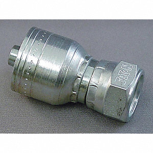 "Hydraulic Hose Fitting,Straight,3.66"" L"
