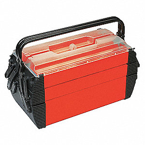 TOOL BOX,CANTILEVER,1000 CU IN,RED/