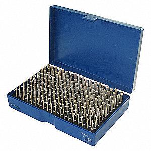 PIN GAGE SET,PLUS,190 PC,0.061-0.25
