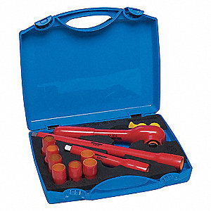 INSULATED SOCKET SET,METRIC,3/8 DR,