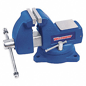 BENCH VISE,MECHANICS,SWIVEL,6 IN
