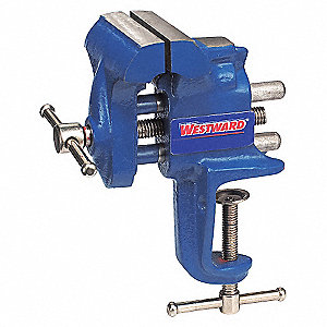 BENCH VISE,PORTABLE CLAMP,FIXED,2-1