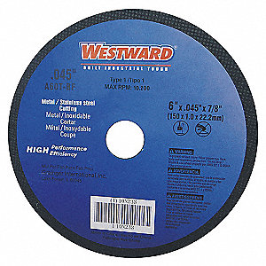 CUT OFF WHEEL,4X0.045X5/8,ZA,BLACK