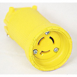 Connector,250VAC,15A,L6-15R,2P,3W,1PH