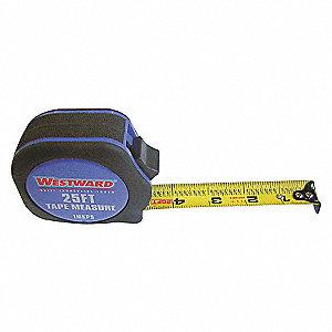 MEASURING TAPE,25 FT,BLK/BLUE,THUMB
