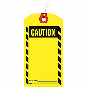 INSPECTION TAG,PAPER,CAUTION,PK1000